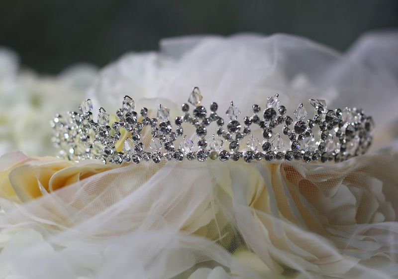 Crystal and diamante wedding tiara - product images