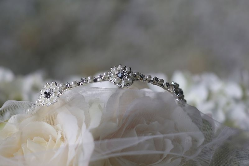 Pearl and diamante wedding headband - product images  of