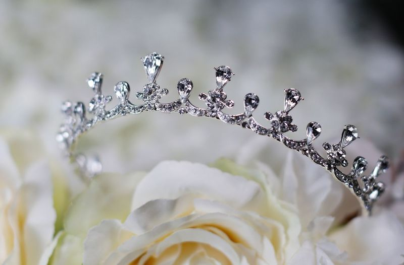 Diamante regal wedding tiara - product images
