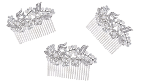 Set,of,3,bridesmaid,vintage,pearl,and,diamante,silver,hair,comb,Set of 3 bridesmaid pearl and diamante silver hair comb, pearl bridesmaid hair combs, hair accessoires for your wedding party, bridesmaid hair accessoires, hair combs for bridesmaids, silver combs for bridesmaids, hair accessories for bridesmaids, uk hair
