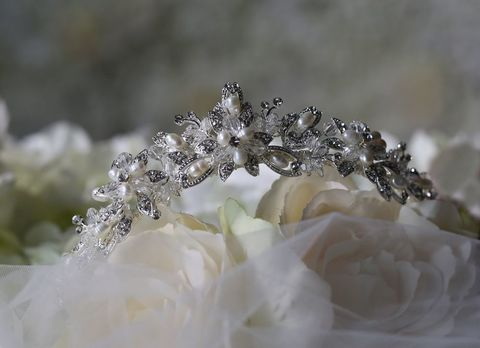 Diamante,and,pearl,wedding,tiara,Diamante and pearl wedding tiara, bridal pearl tiara, wedding tiaras uk, uk tiaras, tiaras for weddings, luxury wedding tiara, pearl wedding tiara, pearl wedding hair accessories, pearl tiara, tiara, warren york wedding tiara