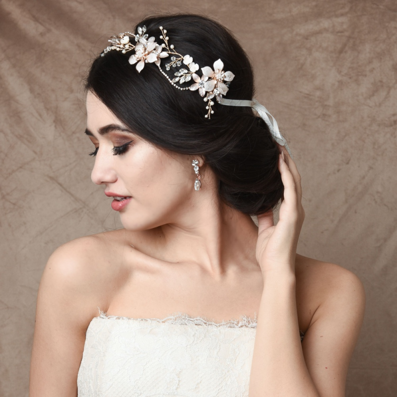Flower bridal hair vine
