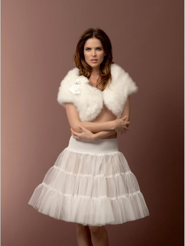 Marabou feather bridal stole - product images  of