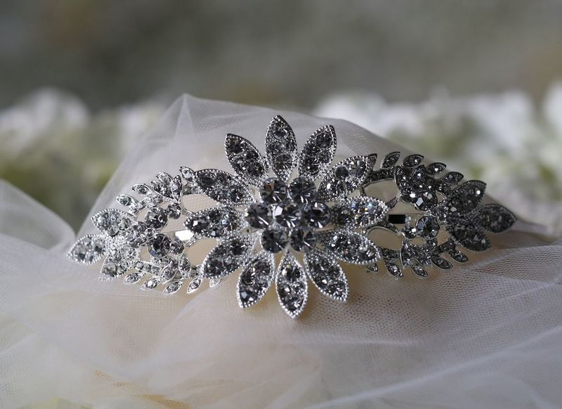 Vintage flower wedding side headband - product images