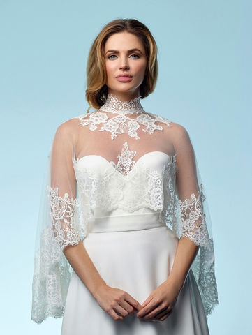 Lace,wedding,cape,lace wedding cape, bridal cape, wedding dress accessories, wedding dress cape, lace cape, lace cape for weddings, lace cape for brides, wedding accessories for brides, bridal accessories, Poirier wedding accessories, ivory lace cape,