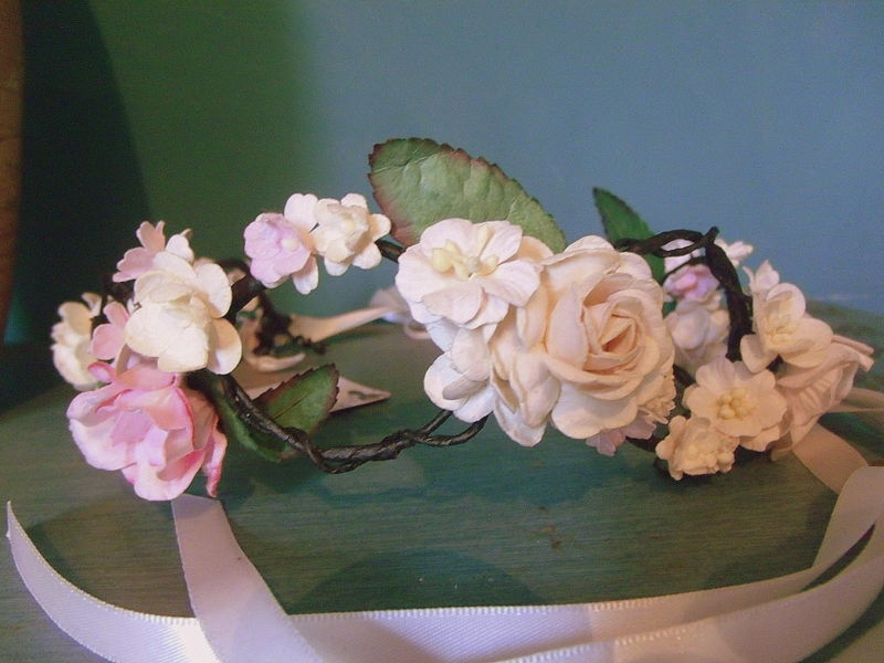 Bohemian Wedding flower crown - bespoke - product images  of