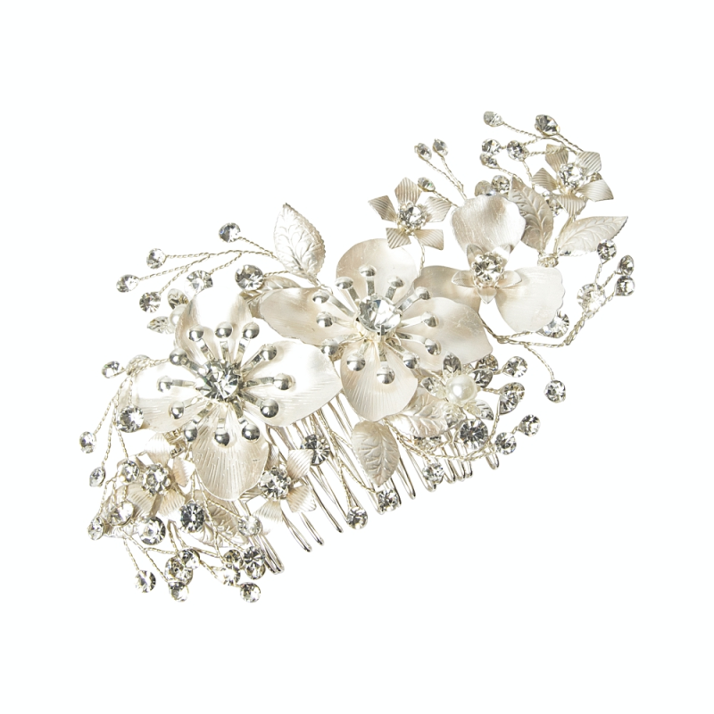 Floral vintage wedding hair comb  - product images  of