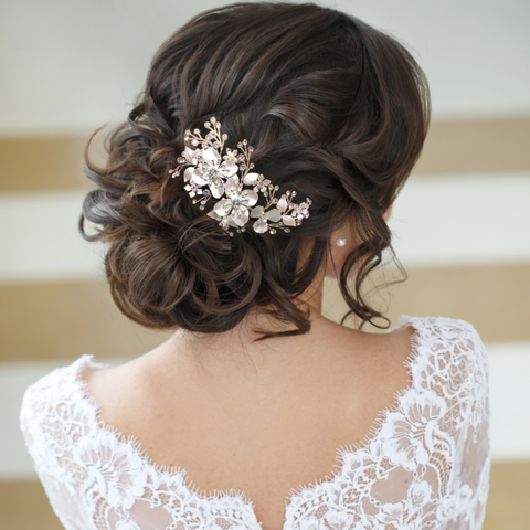 Fabulous Floral Wedding Hair Accessories Collection Tiarasandteirs