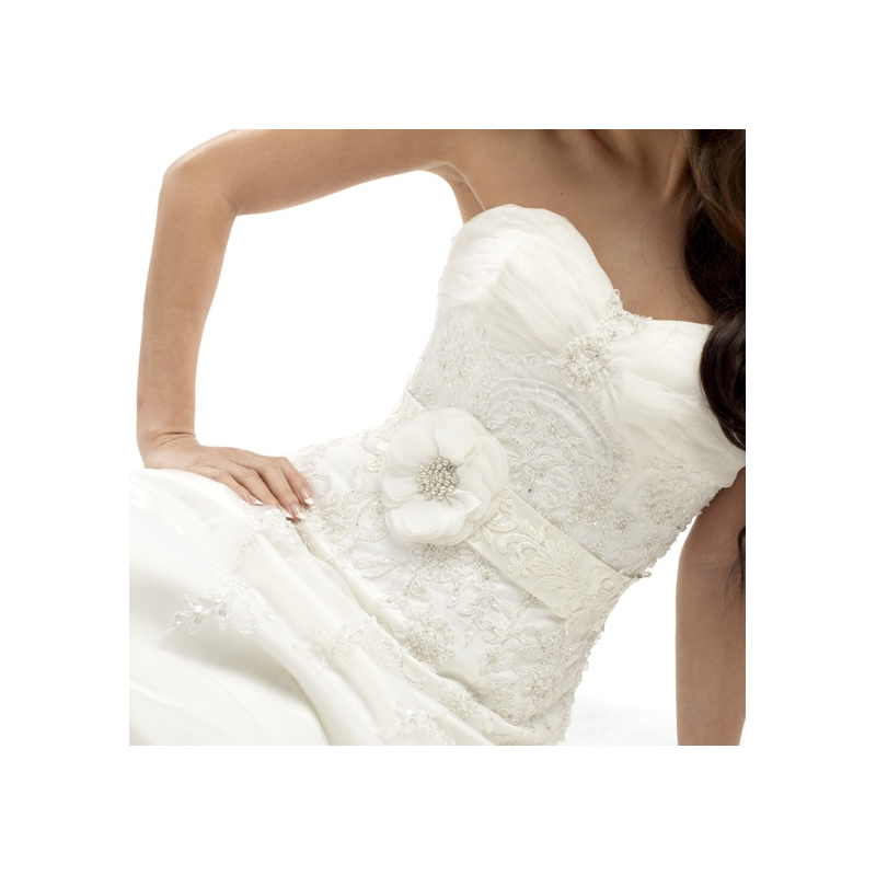 Flower and lace vintage wedding dress belt - product images