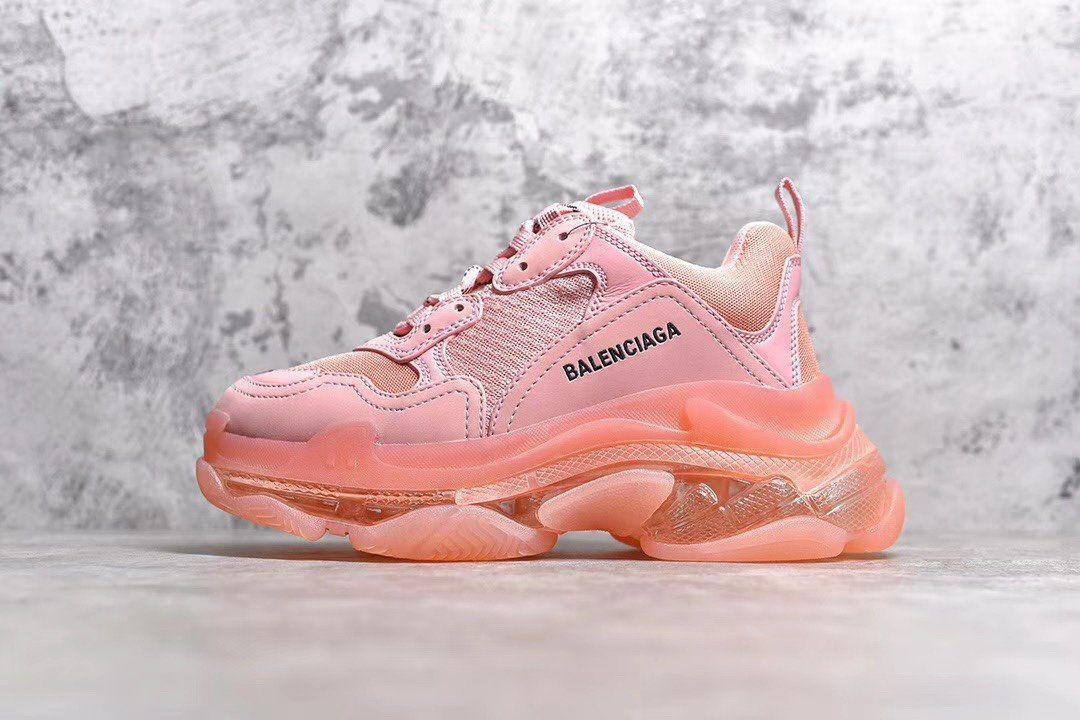 Peach Balenciaga triple s - The Shoe Box