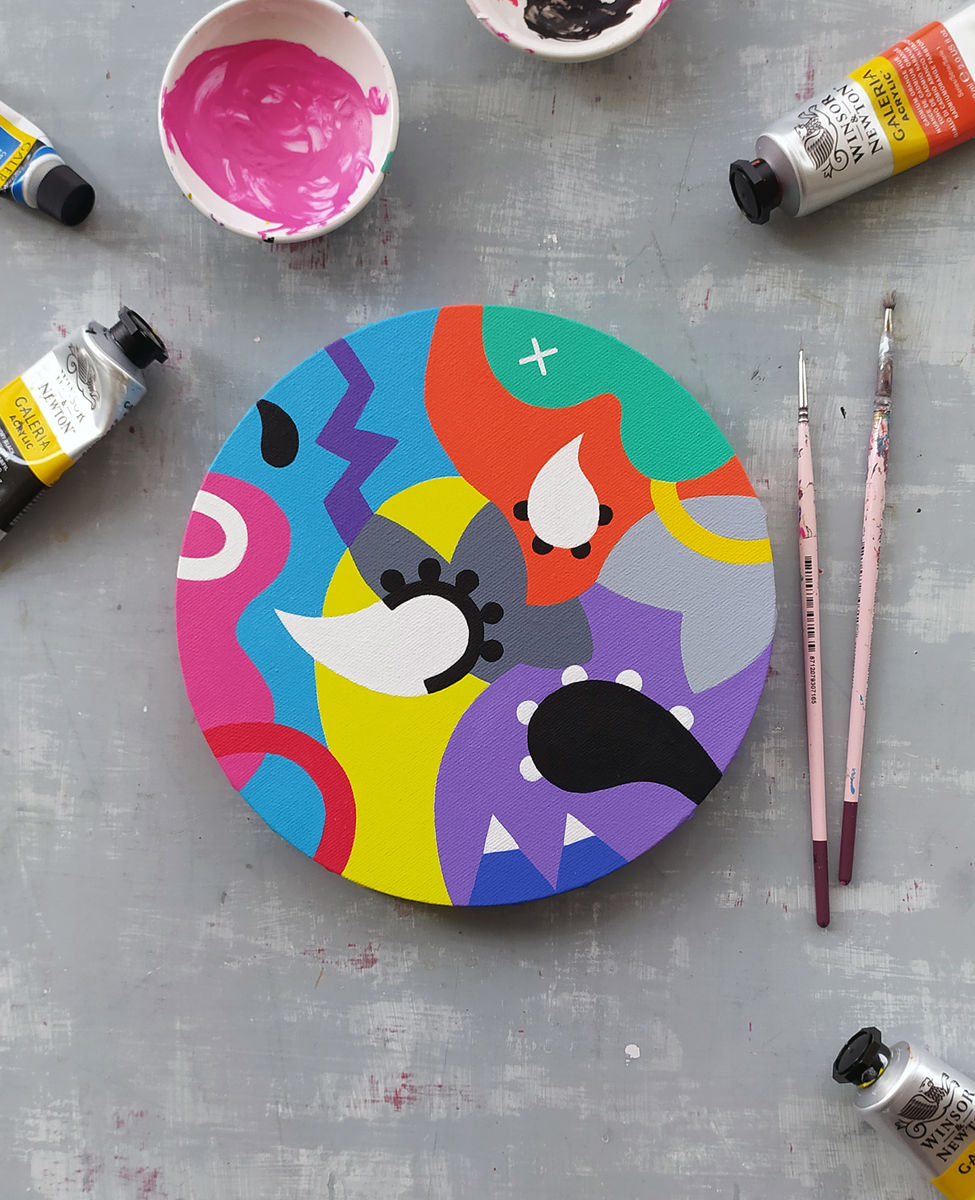 Variation_006, original circular painting - product image