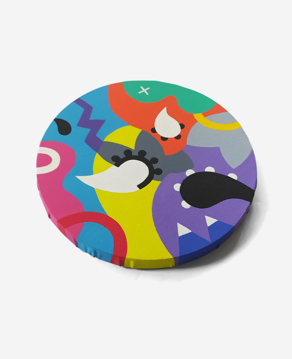 Variation_006, original circular painting - product images  of