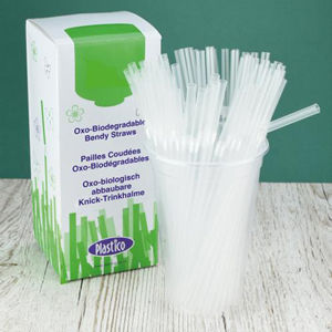 250x,Clear,Biodegradable,Bendy,Straws,-,8,inch