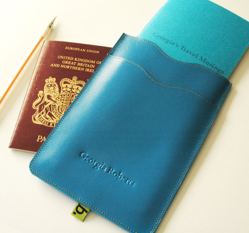 Passport Sleeve with notebook (personalised) - product images  of