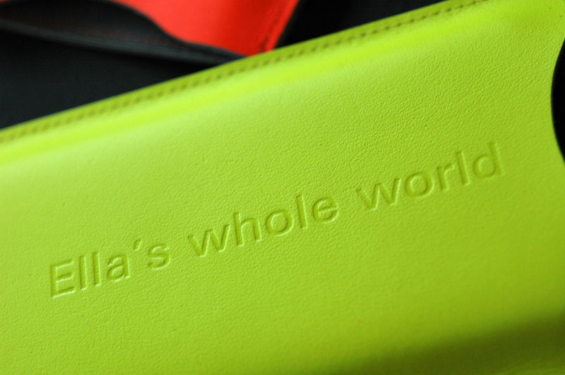 Neon Leather Sleeve for iPhone (personalised) - product images  of