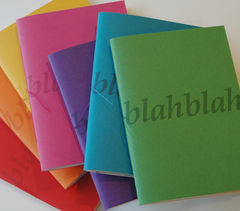 Blah,notebooks,(set,of,3),Blah Blah, recycled, A6, paper, blah blah notebooks (set of 3), the bookery, notebook, handmade, bookery, blank, Heather Weston