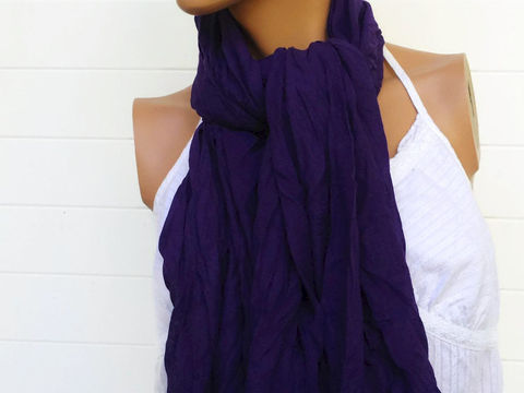 Crinkle,Scarf,Purple,Grape,70,x,38,Accessories,accessories,womens_scarf,scarf,wrap,shawl,crinkle_scarf,headband,head_band,sarong,belt,cotton,silk