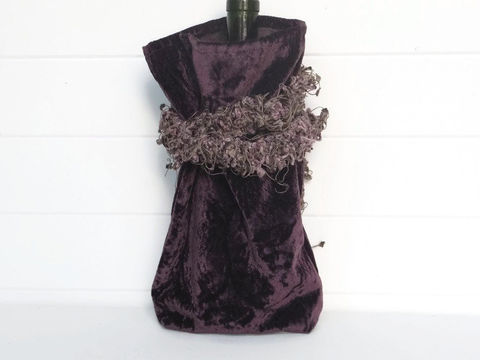 Wine,Bag,Aubergine,Purple,Velvet,wine_bag