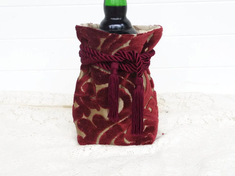 Wine,Bag,Burgundy,Cut,Velvet,wine_sack