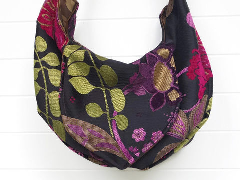 Floral,Cut,Chenille,hippie_purse