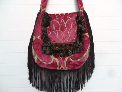 Pink,Cut,Velvet,and,Plum,Aubergine,hippie_bag