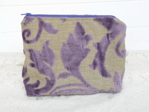 Purple,Cut,Chenille,makeup_bag