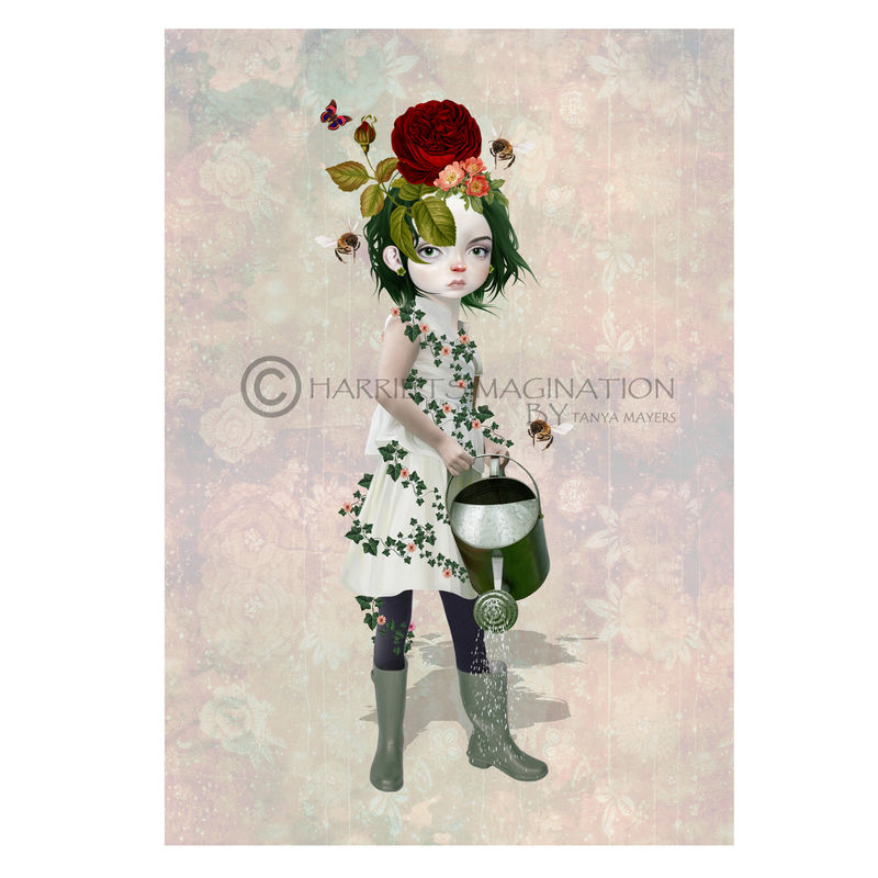 Flower Girl Art Print - Earth Child - product image