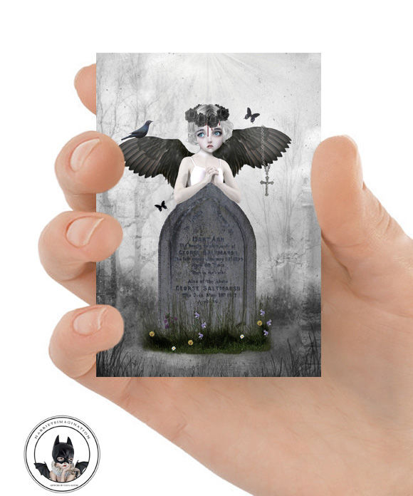 Gothic Fantasy ACEO Print - Fallen Angel - product image