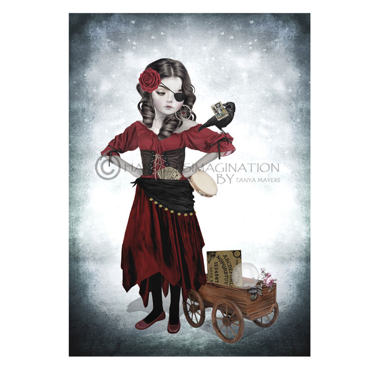 Fortune Teller Art Print - Gypsy Rose - product image