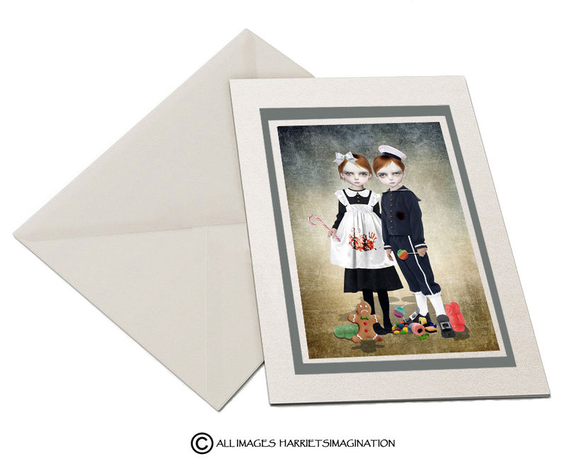 Hansel And Gretel Art Greeting Card - product image