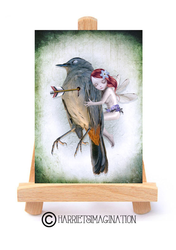 Fairy And Bird ACEO Print - The Last Breath - product image