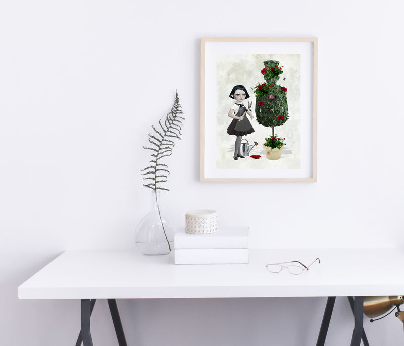 Pop Surrealism Art Print - Absence Makes The Heart Grow Fonder - product image