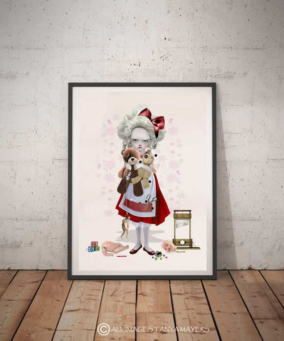 Big Eyed Girl Art Print - Play Date - product image