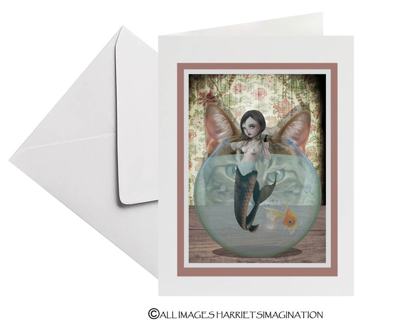 Mermaid Art Greeting Card - product image