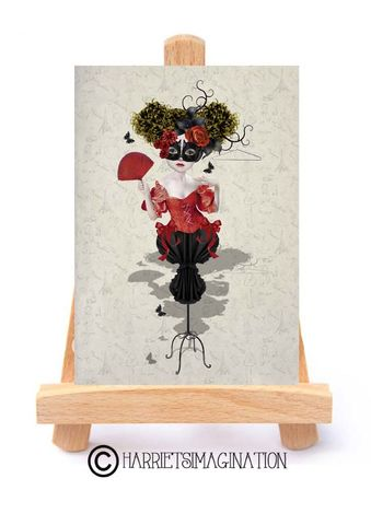 Fashion,Mannequin,ACEO,Print,-,Fashion mannequin ACEO print, French Mannequin art, ACEO Card, Artist trading card, HarrietsImagination