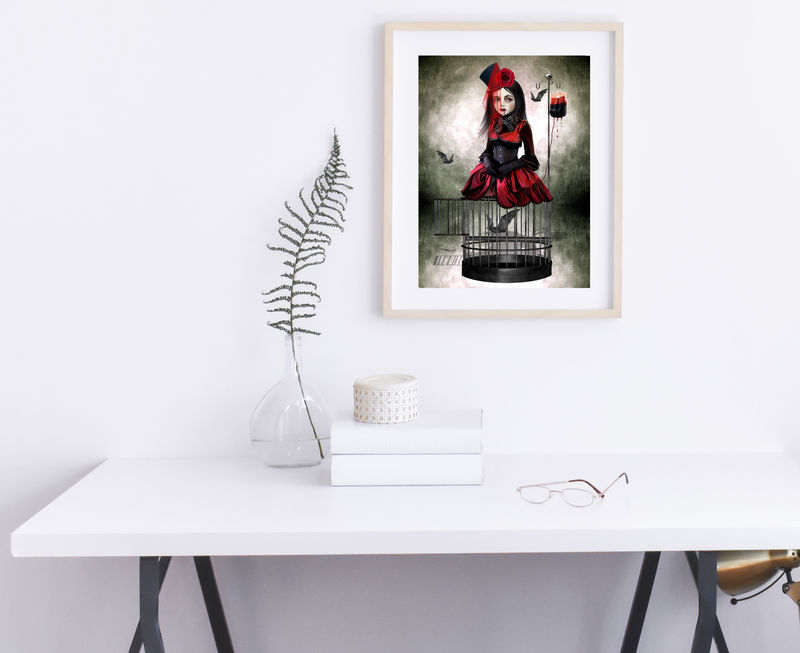 Gothic Vampire Art Print - A Prisoner In My Own Body - product image