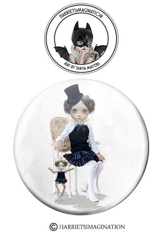 Marionette,Puppet,Pinback,Button,Badge,Marionette puppet Pinback button badge, Pin Badge, Wearable art, Puppet pin, HarrietsImagination