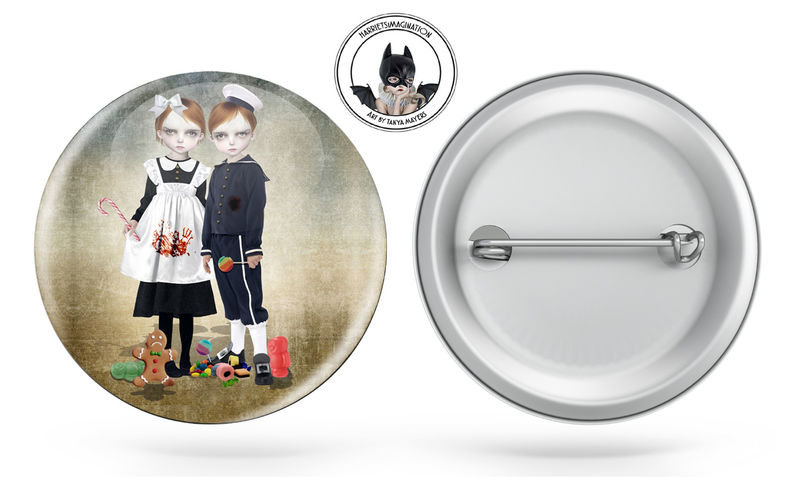 Hansel And Gretel Pinback Button Badge - product image