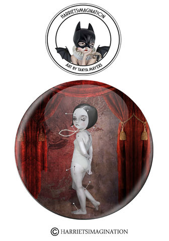 Pin,Up,Pinback,Button,Badge,Pin Up pinback button badge, Pin badge, Creepy cute, Art Pin, Wearable art, Backpack pins, HarrietsImagination
