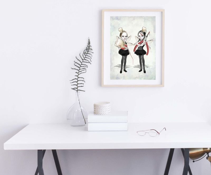 Creepy Cute Fairy Art Print - Tooth Fairies - product image