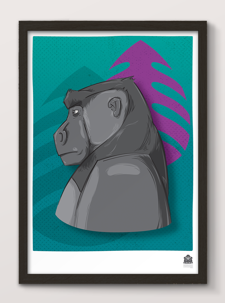 Silverback Profile Poster - product images  of