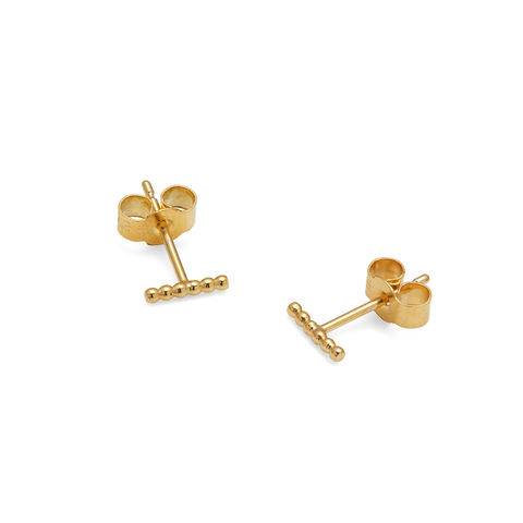 MINI,BALL,BAR,STUD,EARRINGS,-,GOLD