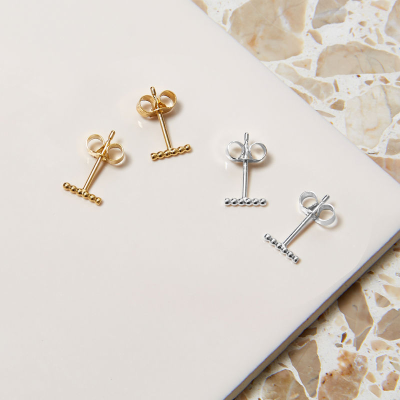 MINI BALL BAR STUD EARRINGS - GOLD - product image