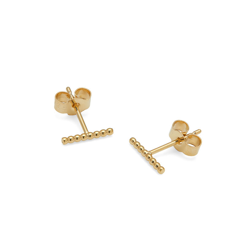 BALL BAR STUD EARRINGS - GOLD - product image