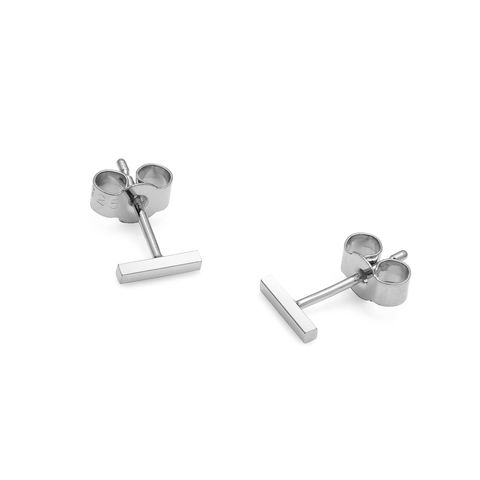 MINI,BAR,STUD,EARRINGS,-,SILVER