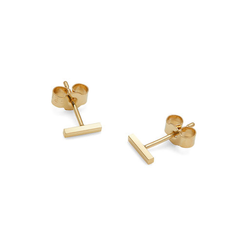 MINI,BAR,STUD,EARRINGS,-,GOLD