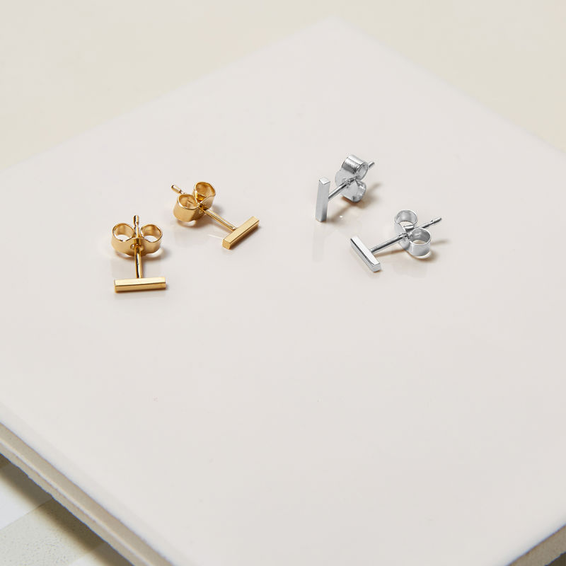 MINI BAR STUD EARRINGS - GOLD - product image