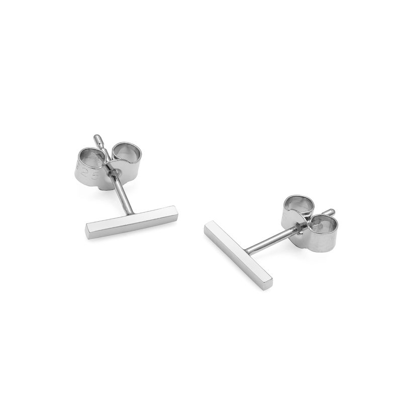 BAR STUD EARRINGS - SILVER - product images  of