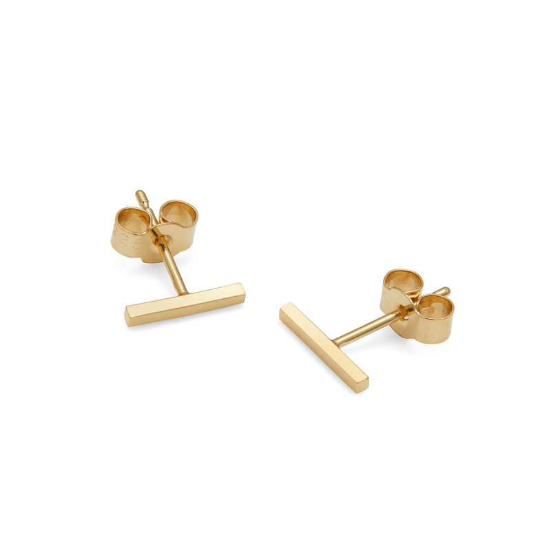 BAR STUD EARRINGS - GOLD - product images  of