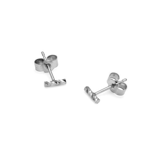 MINI,DIAMOND,BAR,STUD,EARRINGS,-,SILVER